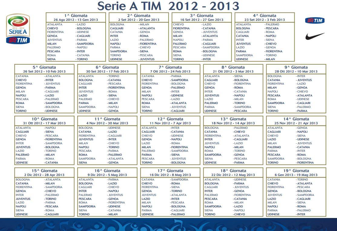 calendario serie a 2012-13 da