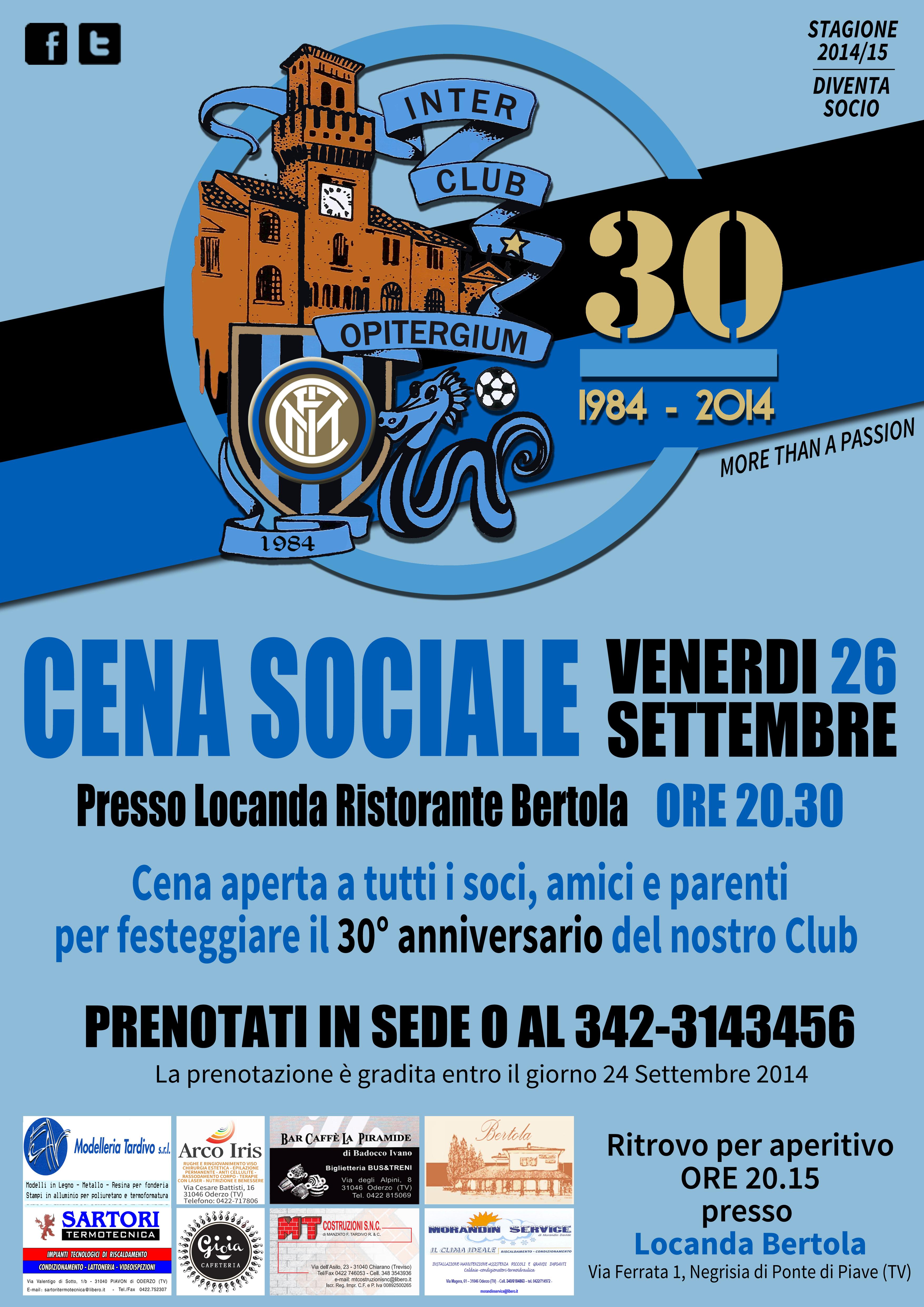 Locandina cena sociale Inter Club